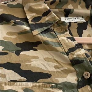 Army fatigue button down